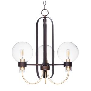Bauhaus-3 Light Mini Chandelier-20 Inches wide by 21 inches high