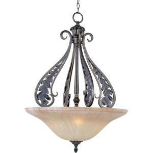 Bordeaux-Three Light Invert Bowl Pendant in Mediterranean style-24 Inches wide by 33 inches high