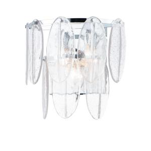 Glacier-3 Light Wall Sconce-18 Inches wide by 13.5 inches high