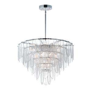 Glacier-19 Light Chandelier-31.5 Inches wide by 22.5 inches high