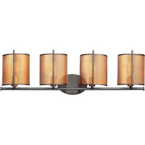Caspian-4 Light Wall Sconce-36.5 Inches wide by 10.25 inches high