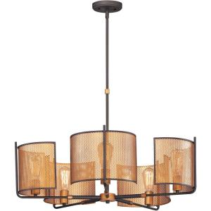 Caspian-5 Light Chandelier-31.25 Inches wide by 17.5 inches high