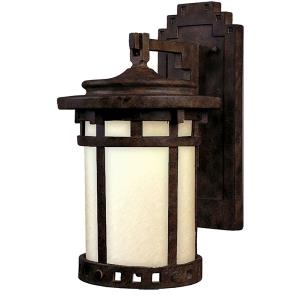 Santa Barbara Dark Sky-1 Light Outdoor Wall Lantern in Craftsman style-9 Inches wide by 16 inches high