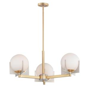 Finn-Three Light Chandelier-22 Inches wide by 11 inches high