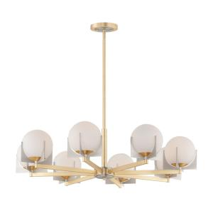 Finn-Eight Light Chandelier-36 Inches wide by 11 inches high