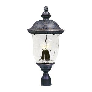 Carriage House DC-Three Light Outdoor Pole/Post Mount in Early American style-12.5 Inches wide by 26.5 inches high