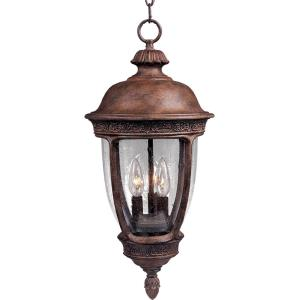 Knob Hill DC - 3 Light Outdoor Hanging Lantern - 13 Inches wide by 26.5 inches high