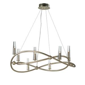 Entwine-Eight Light Chandelier-36.75 Inches wide by 14.25 inches high