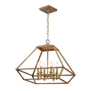Woodland-Six Light Chandelier-23 Inches wide by 20.5 inches high