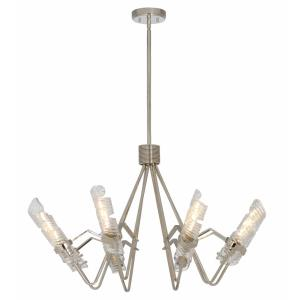 Milano-Eight Light Chandelier-37.75 Inches wide by 22.25 inches high