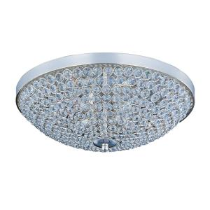 Glimmer-Four Light Flush Mount in Crystal style-15 Inches wide by 5 inches high