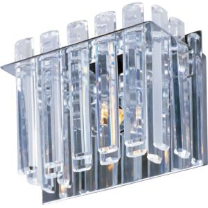 Facets-One Light Wall Sconce in Crystal style-7.5 Inches wide by 5 inches high