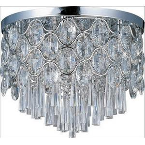 Jewel-Twelve Light Flush Mount in Crystal style-17.75 Inches wide by 15.75 inches high