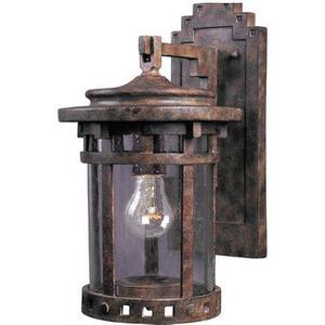 Santa Barbara VX-One Light Outdoor Wall Mount in Craftsman style-7 Inches wide by 13 inches high