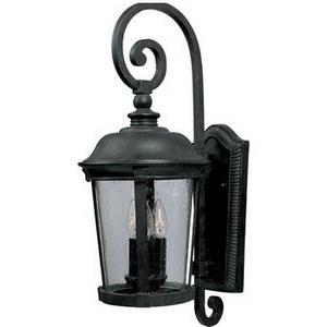 Dover VX-Three Light Outdoor Wall Mount in Mediterranean style-10 Inches wide by 24.5 inches high