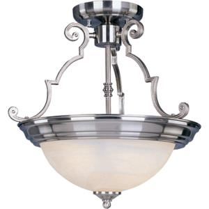 Essentials-2 Light Semi-Flush Mount in Builder style-14.75 Inches wide by 14 inches high