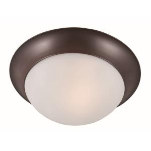 Essentials-One Light Flush Mount in Early American style-12 Inches wide by 4 inches high