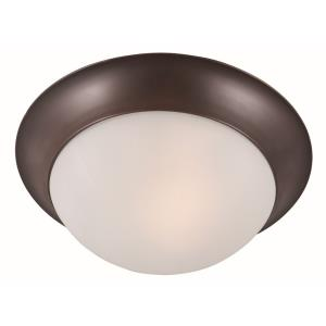 "Essentials - 14"" Two Light Flush Mount"
