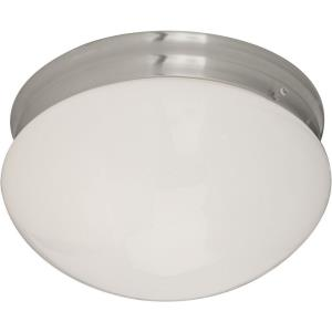 Essentials-Two Light Flush Mount in Builder style-9 Inches wide by 5 inches high