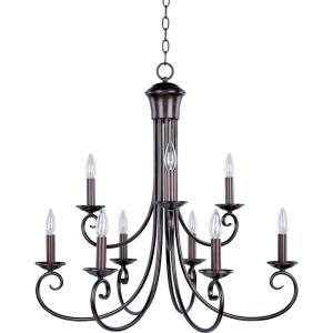 Loft - Nine Light 2-Tier Chandelier