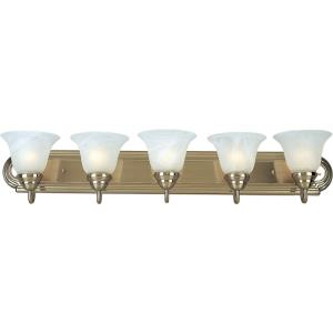 Essentials 5 Light Early American Bath Vanity Approved for Damp Locations