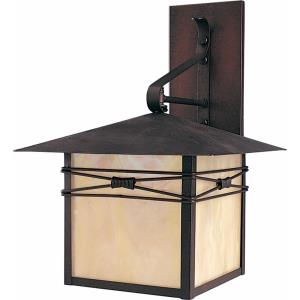 Inglenook-1 Light Outdoor Wall Lantern in Transitional style-11 Inches wide by 16.5 inches high