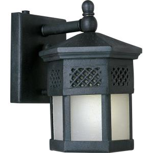 Scottsdale EE-Outdoor Wall Lantern Mediterranean Forged Iron in Mediterranean style-6 Inches wide by 8.5 inches high