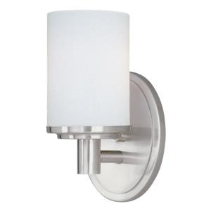 Cylinder 1 Light Modern Bath Vanity Approved for Damp Locations
