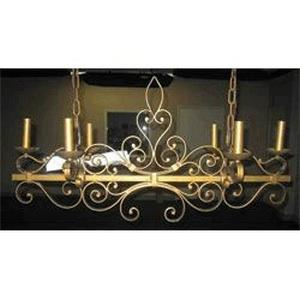 Six Light Chandelier-14.5 Inches wide by 17.5 inches high