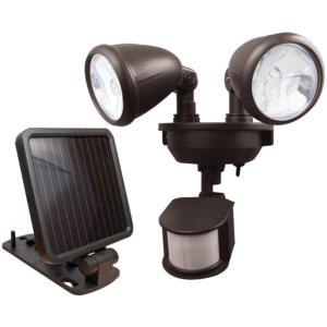 Solar-Powered LED Dual Head Security Light