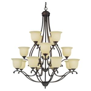 Courtney Lakes - Sixteen Light 3-Tier Chandelier