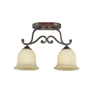 Courtney Lakes-Two Light Semi-Flush Mount-18 Inches Wide by 12 Inches High