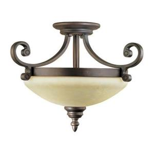 Oxford - Two Light Semi-Flush Mount