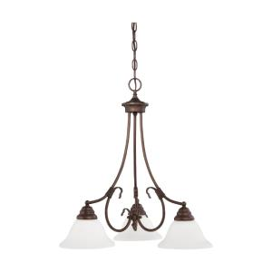 Fulton-3 Light Chandelier-25 Inches Wide by 24.5 Inches High