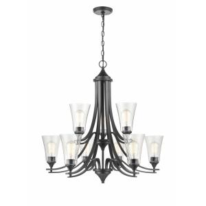 Natalie Chandelier 9 Light -32 Inches Wide by 31 Inches High