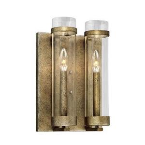 Milan-Two Light Wall Sconce-9.5 Inches Wide by 14.75 Inches High