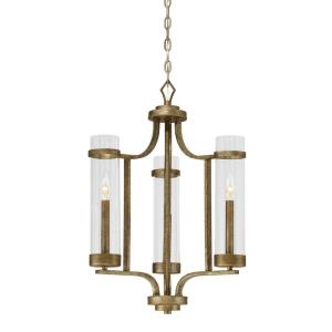 Milan Chandelier 3 Light -20 Inches Wide by 26 Inches High