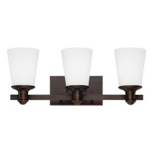 Cimmaron-3 Light Bath Vanity-20 Inches Wide by 8 Inches High