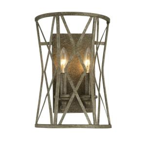 Lakewood-2 Light Wall Sconce-9 Inches Wide by 13 Inches High