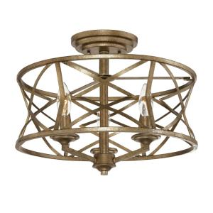 Lakewood-3 Light Semi-Flush Mount-16 Inches Wide by 12.75 Inches High