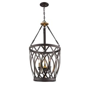 3 Light Pendant-16 Inches Wide by 31 Inches High