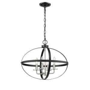 Four Light Pendant-20 Inches Wide by 16.5 Inches High