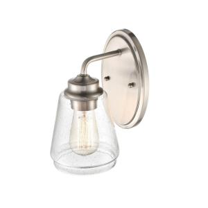 1 60 Watt Light Wall Sconce-5.25 Inches Wide by 9.75 Inches High