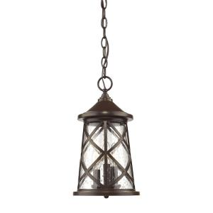 Gordon-3 Light Outdoor Hanging Lantern-8 Inches Wide by 14.75 Inches High