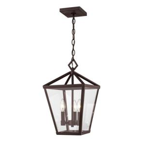 Arnold-4 Light Outdoor Hanging Lantern-10 Inches Wide by 17.5 Inches High