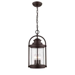 Livingston-3 Light Outdoor Hanging Lantern-8.88 Inches Wide by 18 Inches High