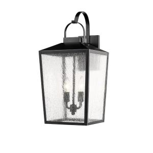 Two Light Outdoor Wall Bracket in Transitional Style-10 Inches Wide by 22 Inches High
