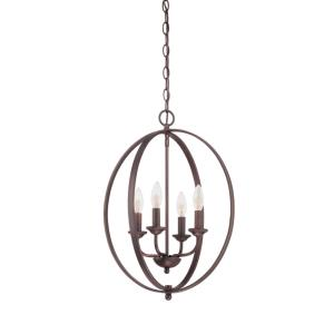 4 Light Pendant-16 Inches Wide by 22.5 Inches High