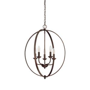 5 Light Pendant-20 Inches Wide by 26.5 Inches High