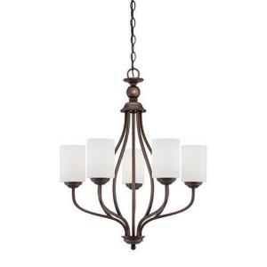 Lansing Chandelier 5 Light-23 Inches Wide by 28 Inches High